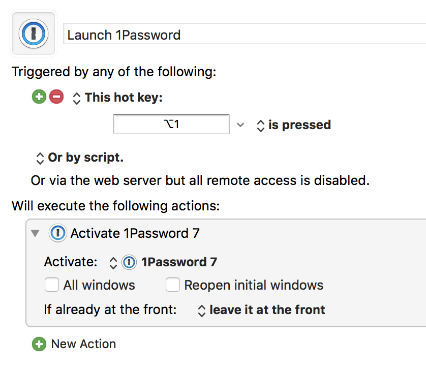 Launching 1Password 7 for Mac using Keyboard Maestro now fails