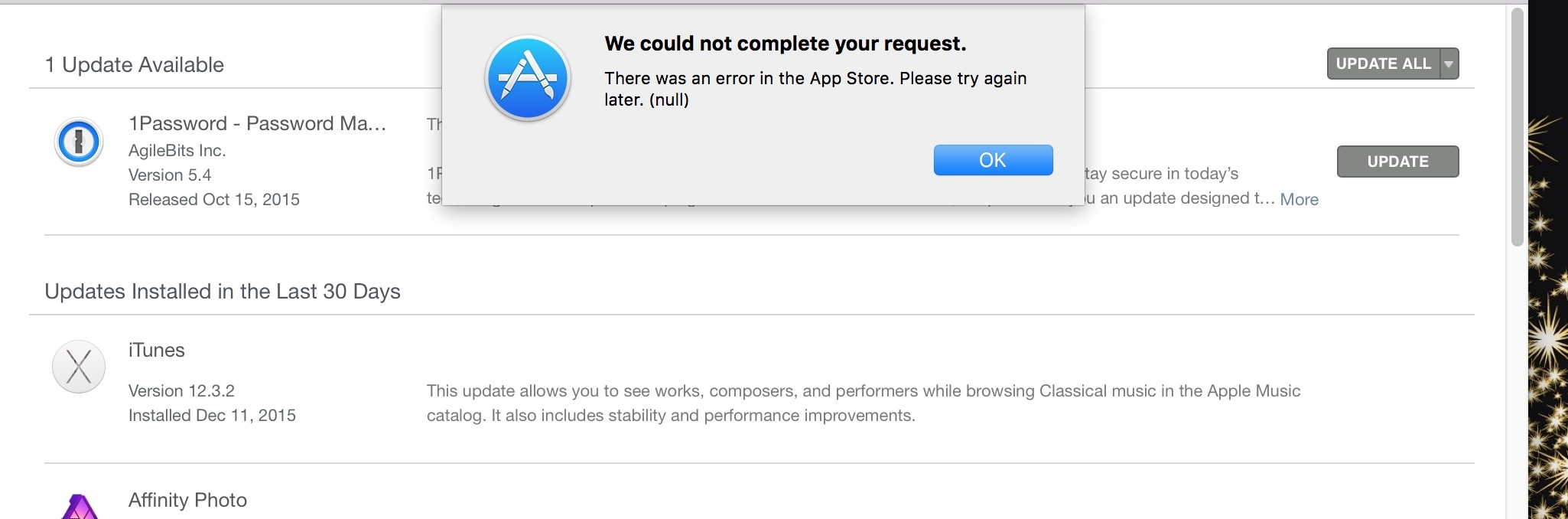 Mac app store will not update my app, I also have an earlier