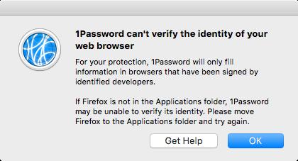 Firefox ESR 60 1 0 released today   1Password no worky — 1Password Forum