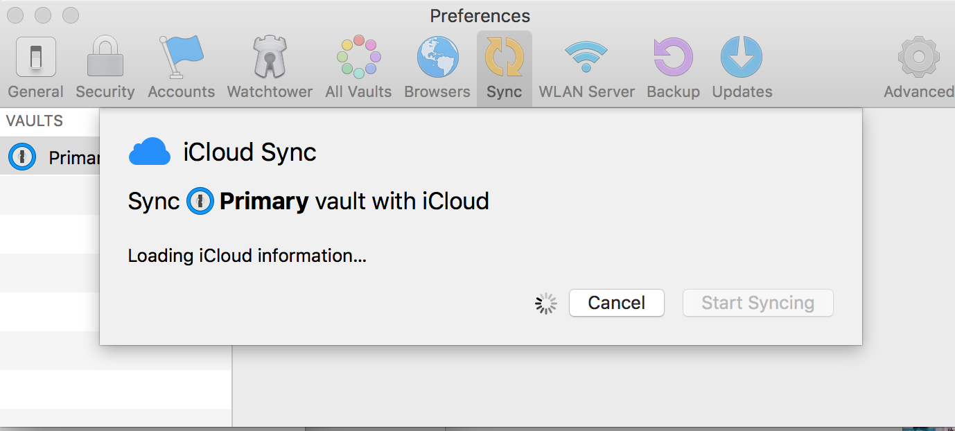 My Mac stopped syncing with iCloud (I go to preferences sync