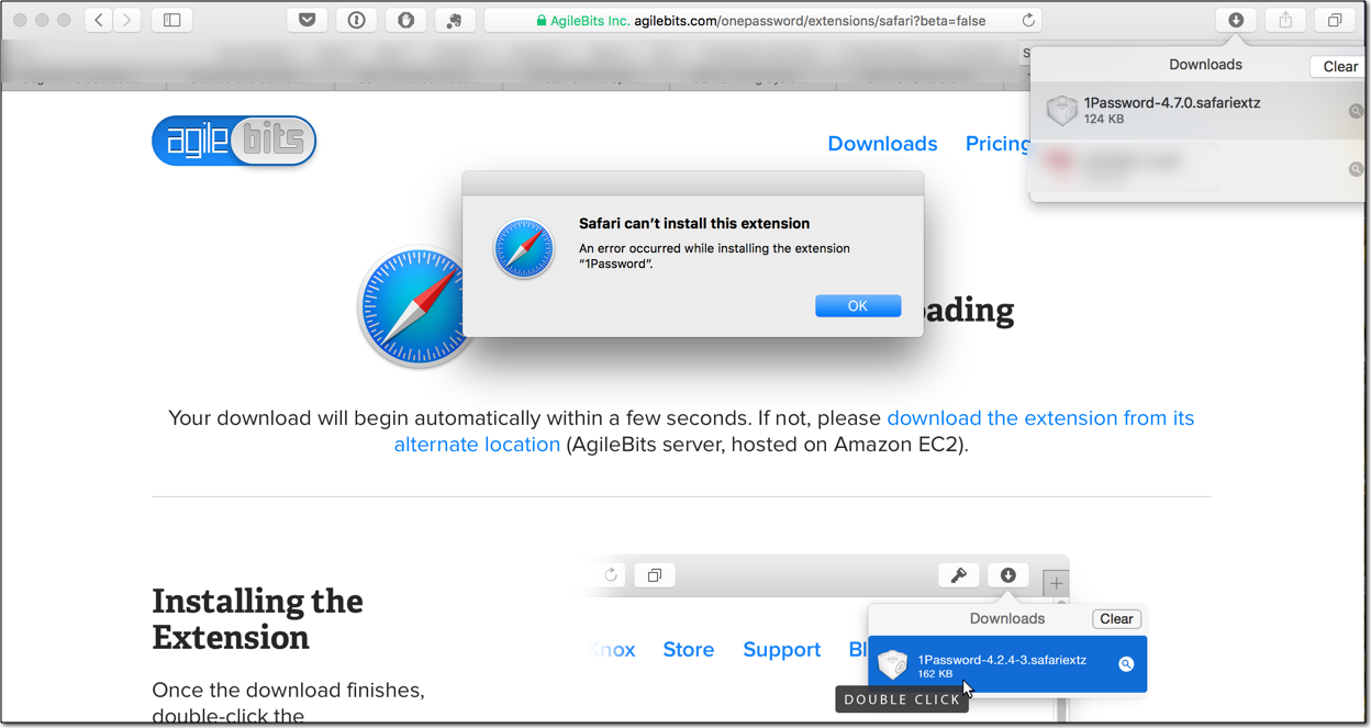 Cannot install 1Password Extension for Safari — 1Password Forum