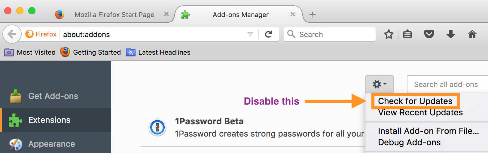 Firefox and 1Password 4 [see AgileBits Update information in