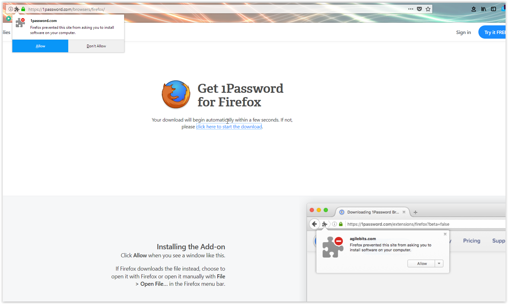 Firefox Extension for 1Password v7 cant download — 1Password Forum