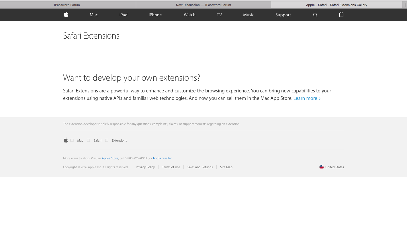 Cannot re-install 1PW extension on Mac Safari v12