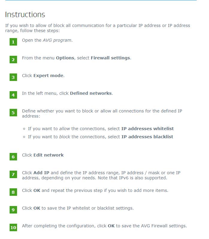 windows 10 avg firewall blocking internet
