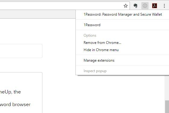 1password extension for Google Chrome is not working  — 1Password Forum