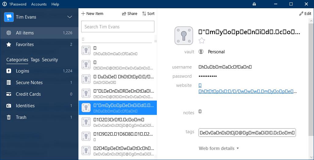 1password import data