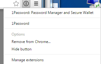 Chrome extension [Not yet working with unstable version] — 1Password