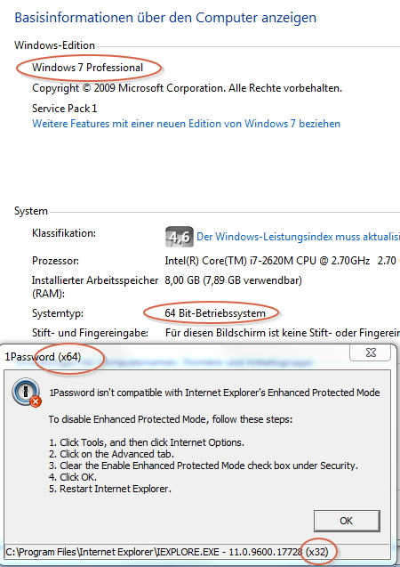 Internet Explorer 11 Enhanced Mode problem — 1Password Forum