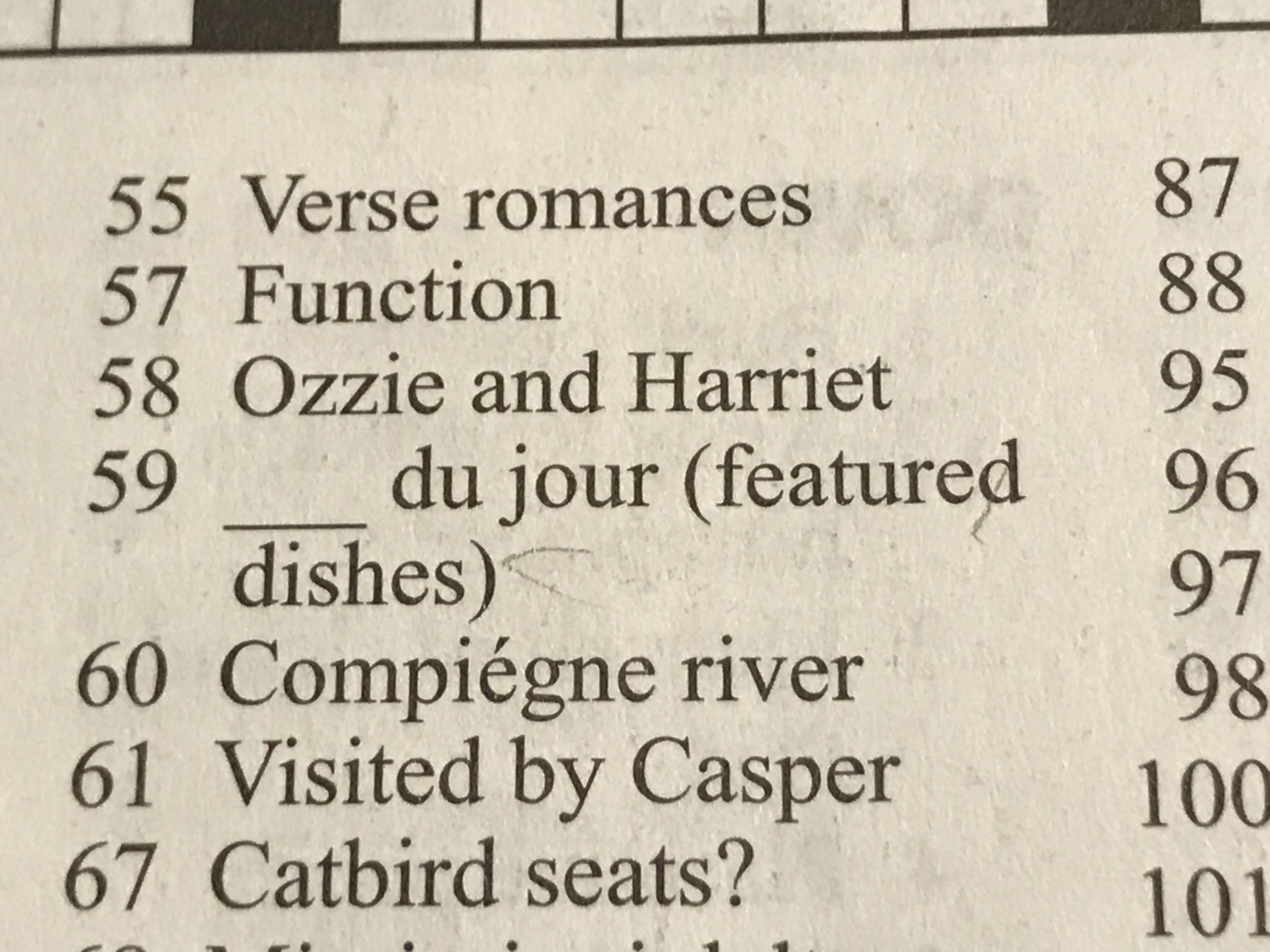 being the nerd that I am, I took a break and worked a crossword puzzle: