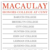 MacaulayHonors