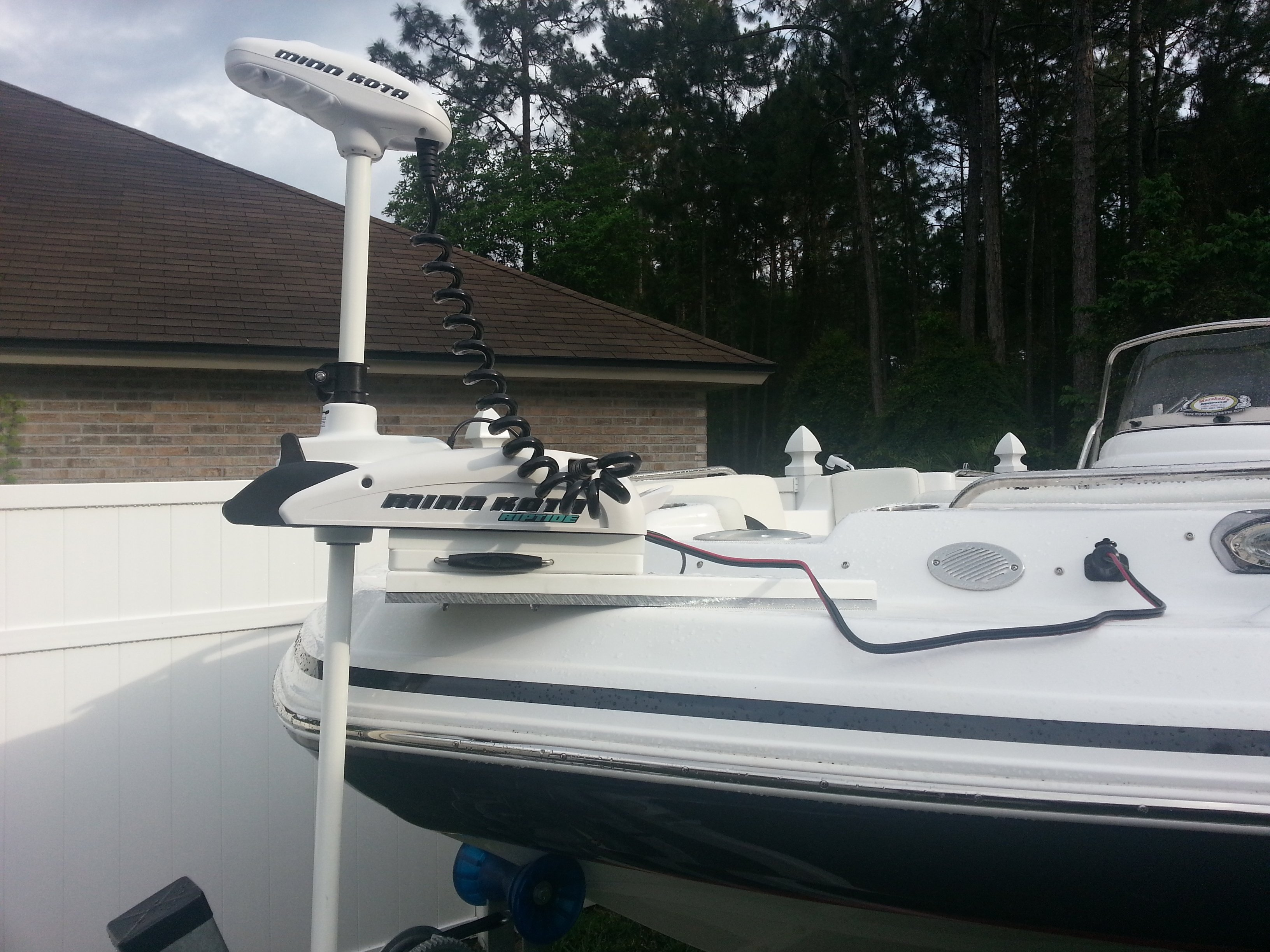 Ss231 trolling motor install discussion and questions for Installing a minn kota riptide trolling motor
