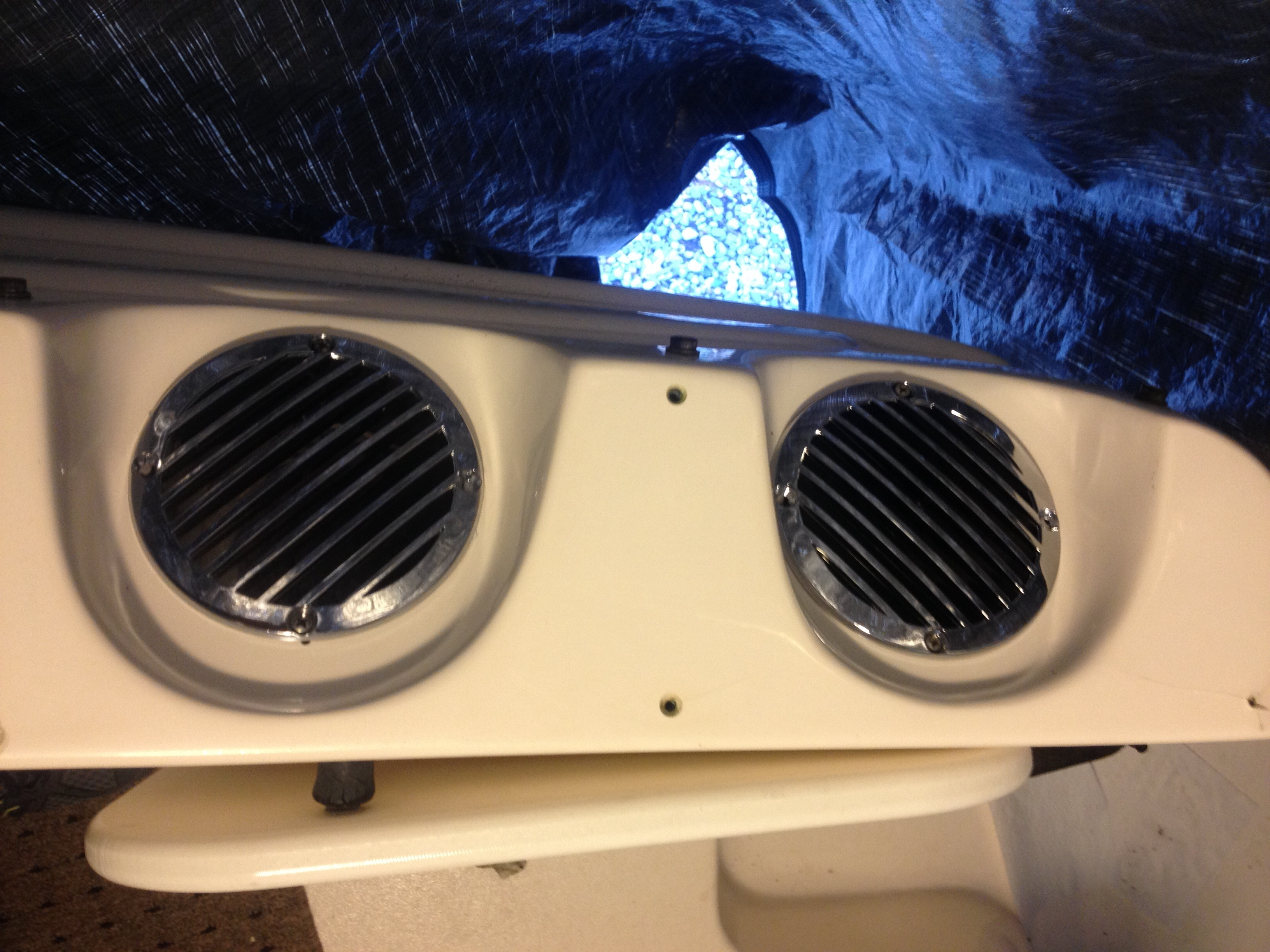 New Chrome Engine Compartment Vents Rinker Boat Company