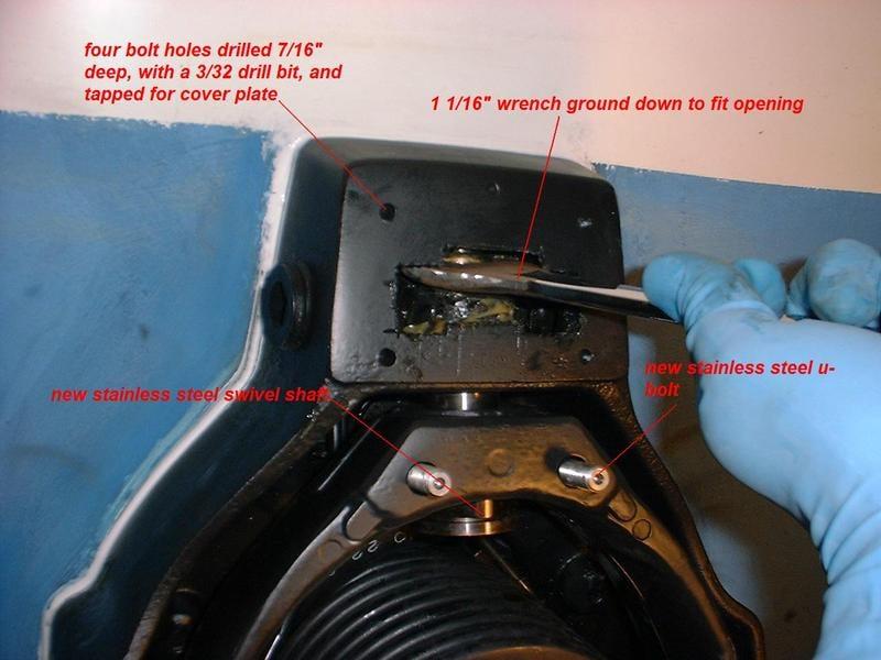 Bravo 3 Swivel Shaft repair instructions — Rinker Boat Company