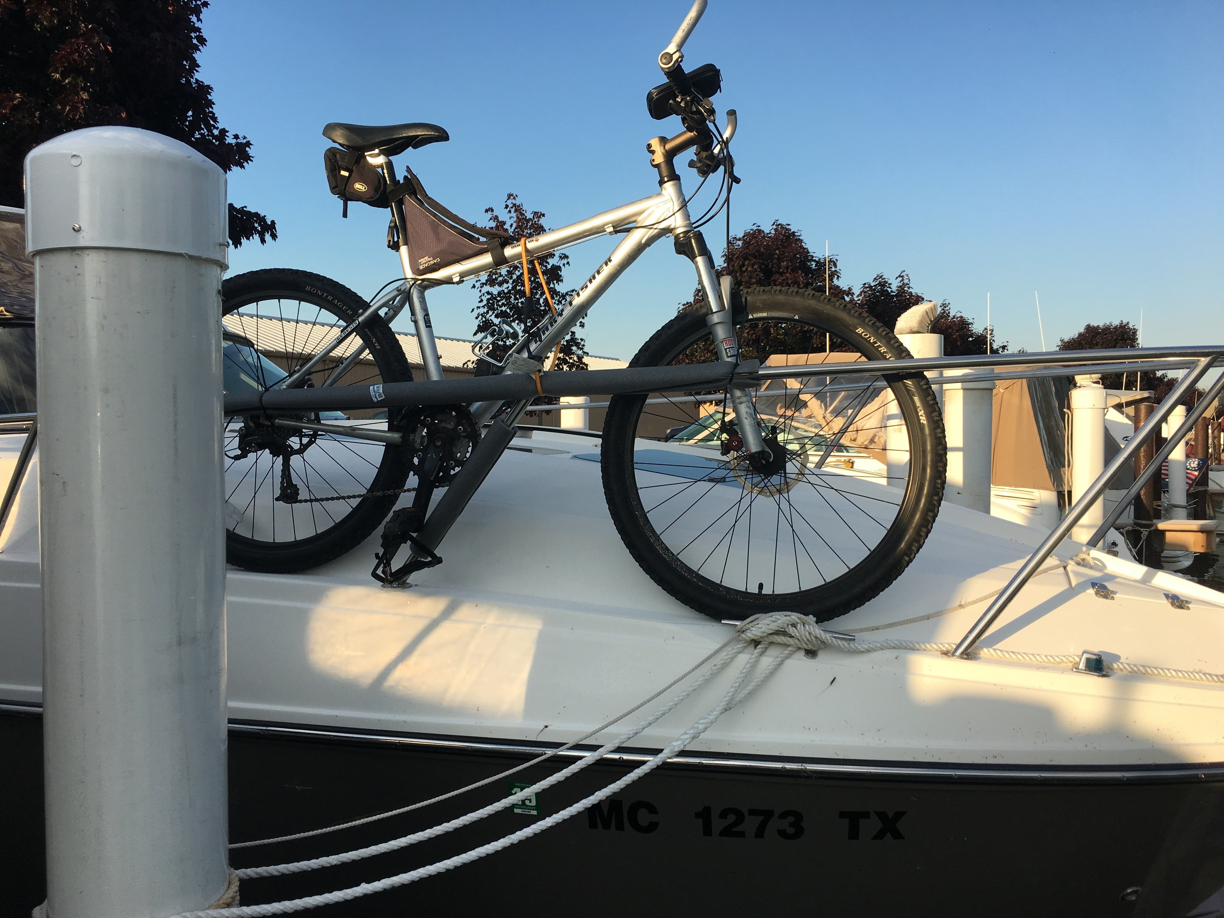 Storing Bikes On Boats: Rinker 310EC Bicycle Storage Recommendation