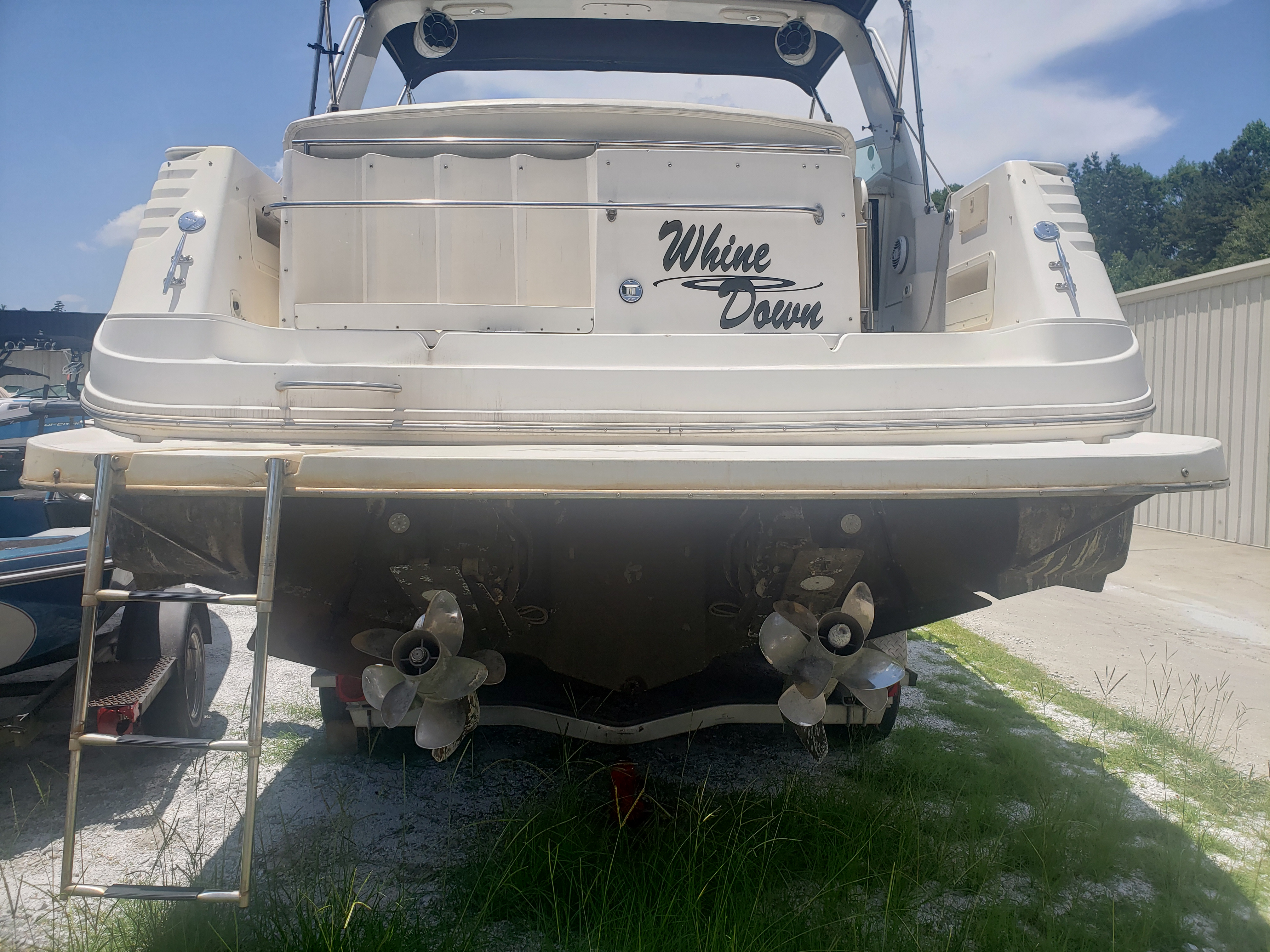 2 questions: Gear ratio and swim platform — Rinker Boat Company
