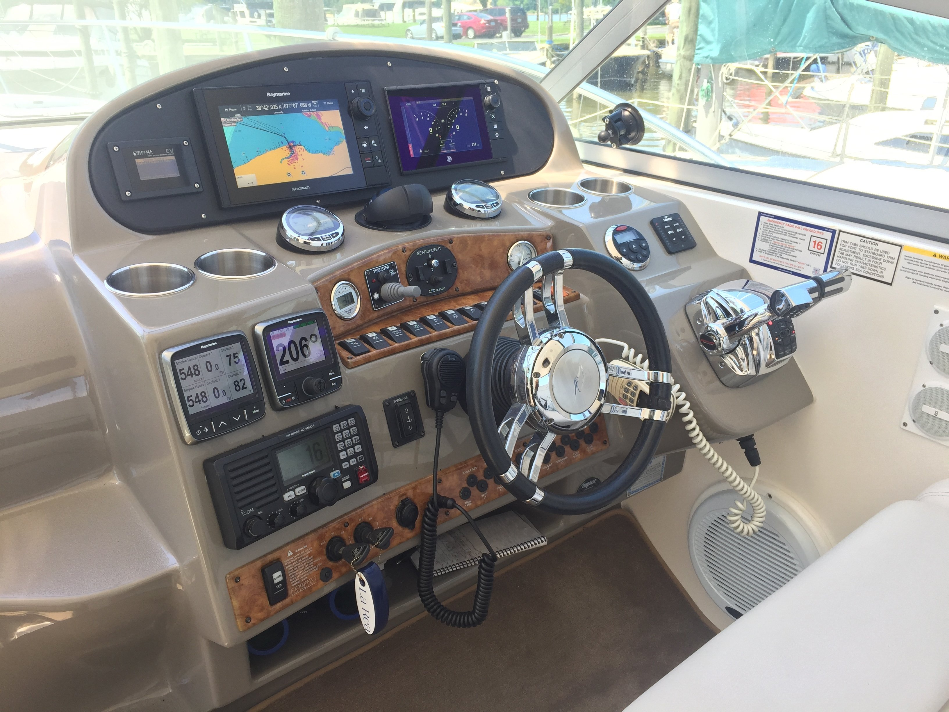 Conversion To All Digital Helm On A 2007 370 Rinker Boat Company