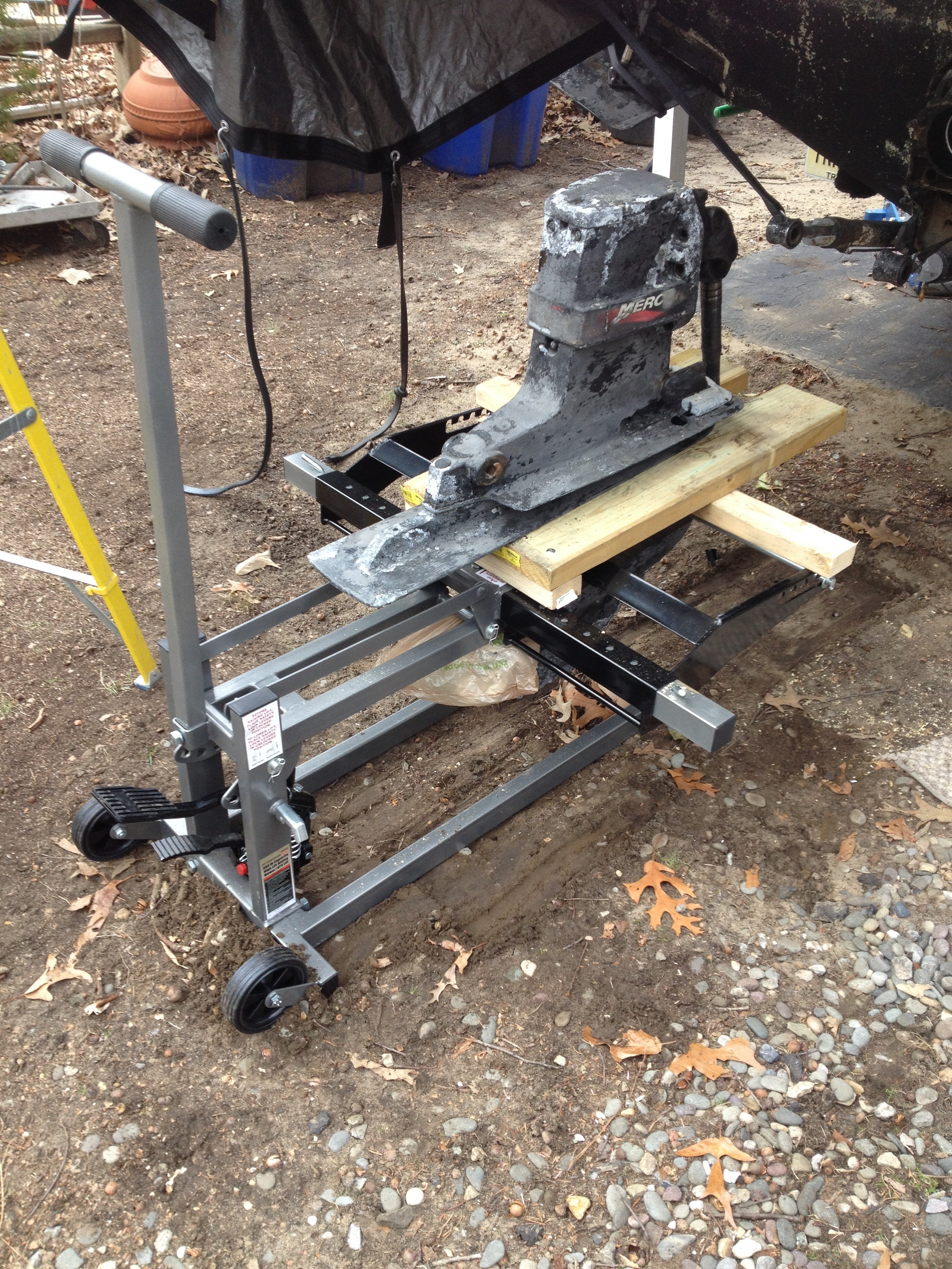 Home Made Outdrive Jack Stand Rinker Boat Company