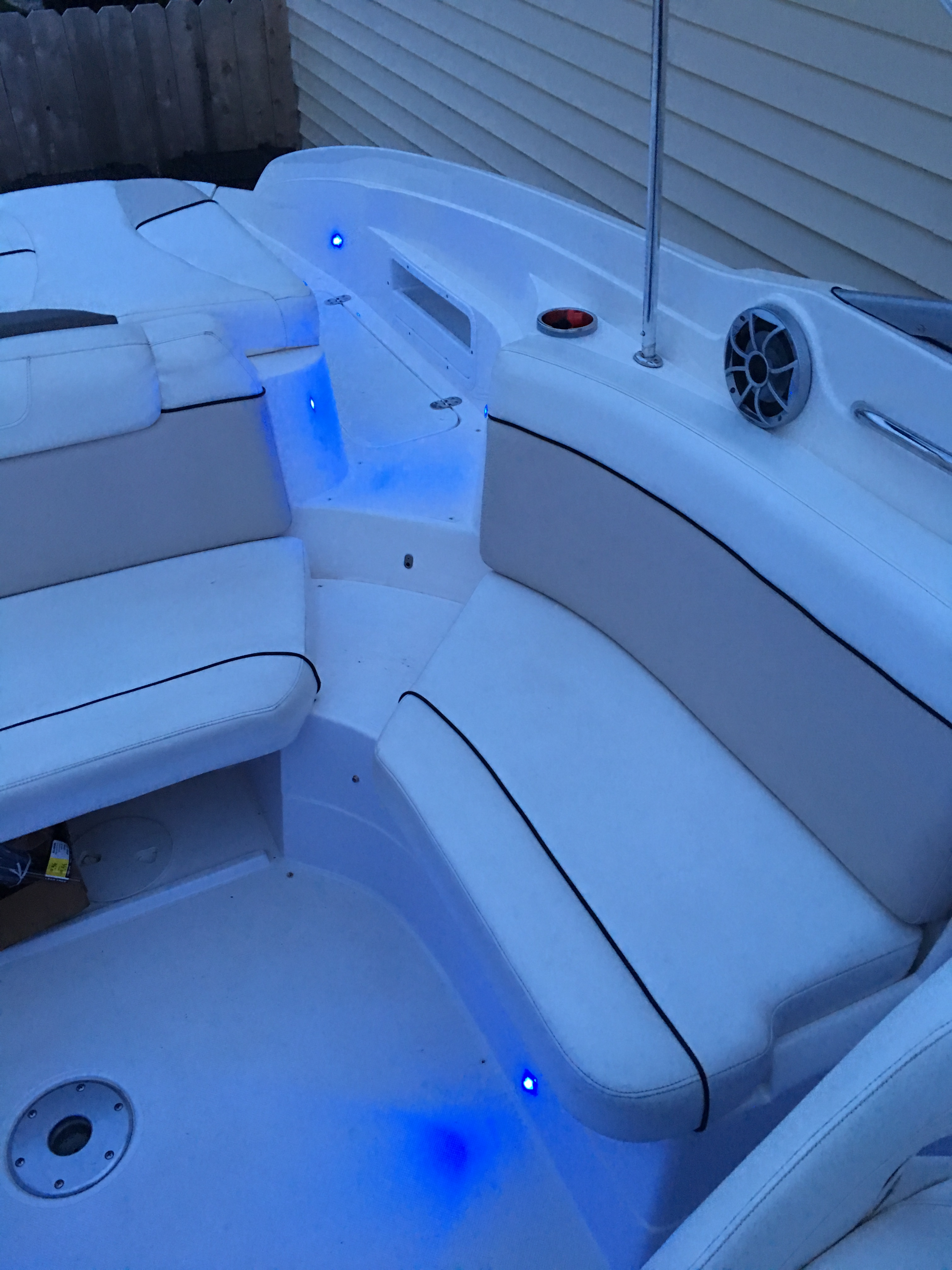 Stereo & LED Upgrades Done — Rinker Boats