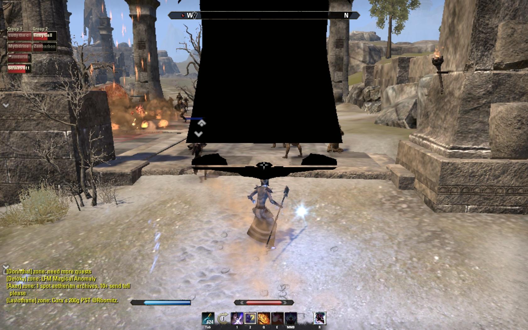 Image/Tearing happening in my screen — Elder Scrolls Online