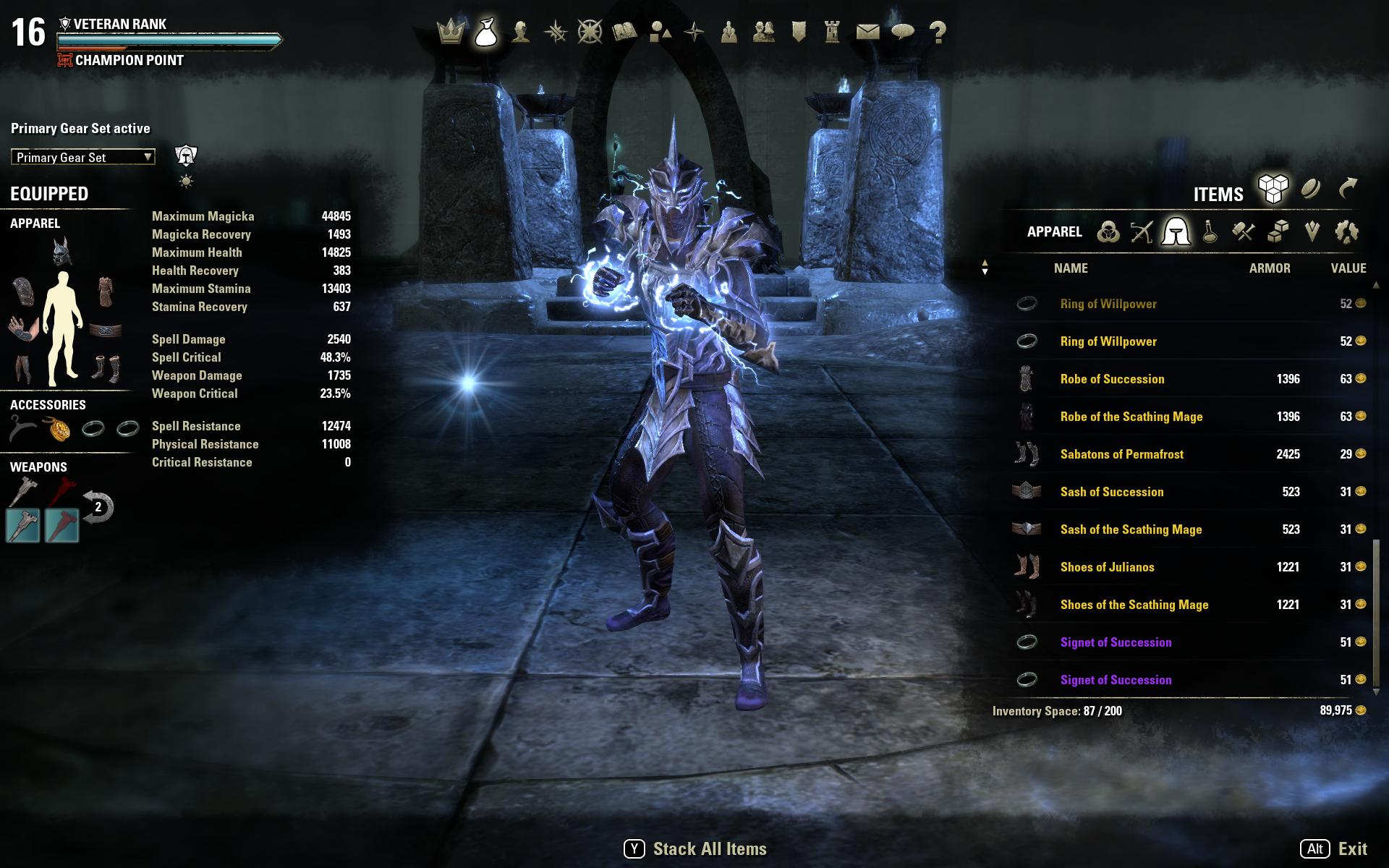 PvE Magicka Sorc Build - Orsinium Build — Elder Scrolls Online