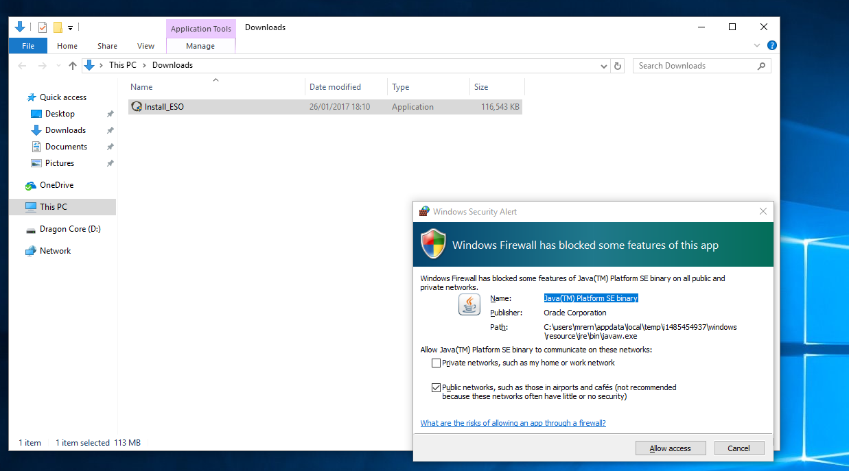 Can\u0027t install the file Install_ESO.exe \u2014 Elder Scrolls Online