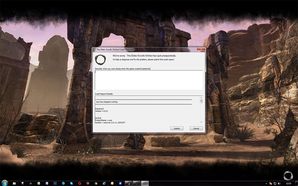 Game keeps crashing no matter what I try — Elder Scrolls Online