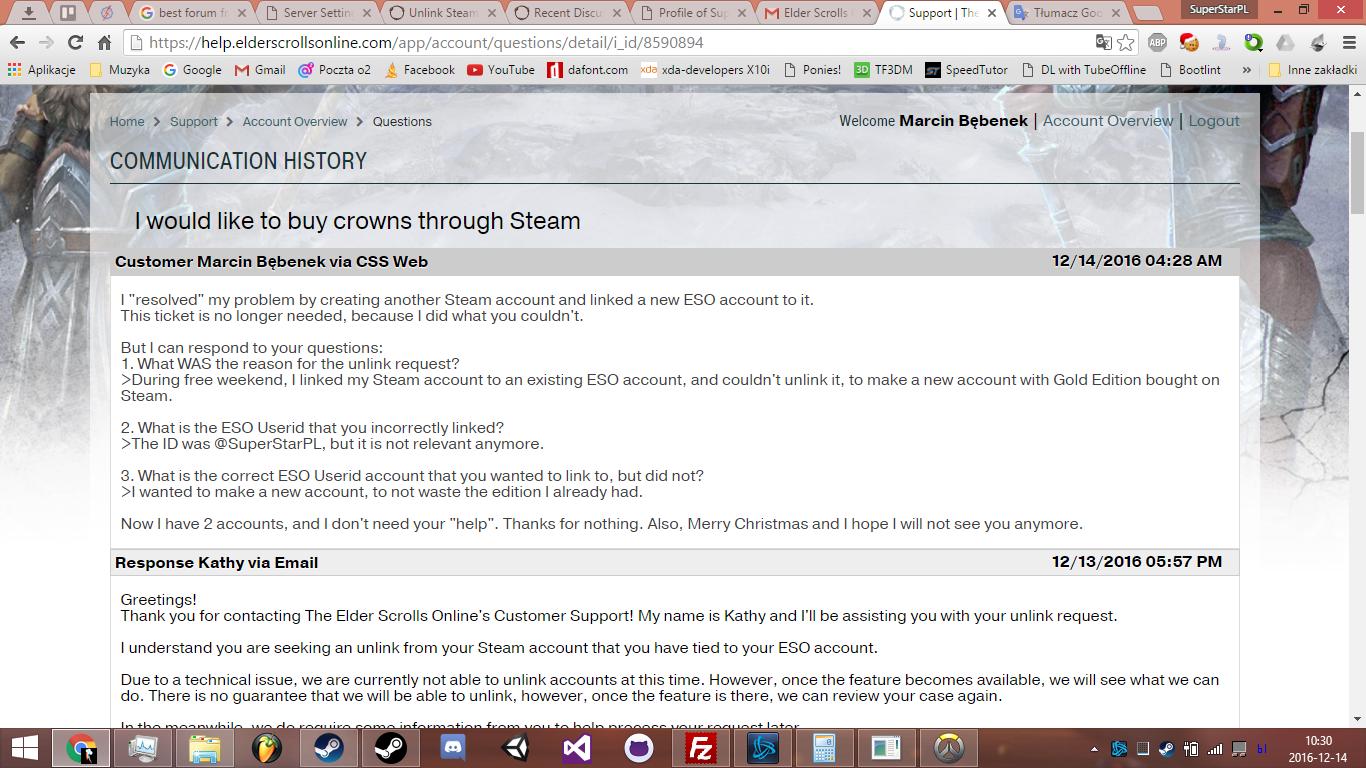 Unlink Steam account? — Elder Scrolls Online