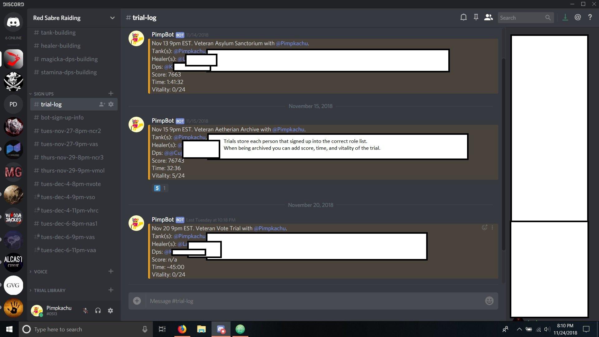 Pimpbot - Discord Bot for Trials Organization! — Elder Scrolls Online