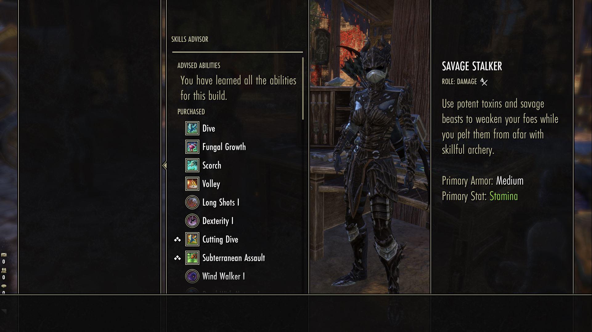Skills Menu glitches in controller mode — Elder Scrolls Online