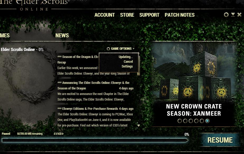 Can't Repair Launcher — Elder Scrolls Online