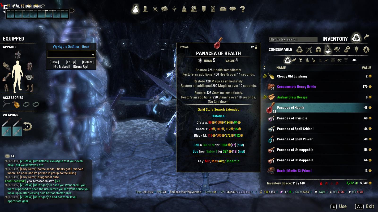 No CoolDown on crafted potions? - Typo? — Elder Scrolls Online