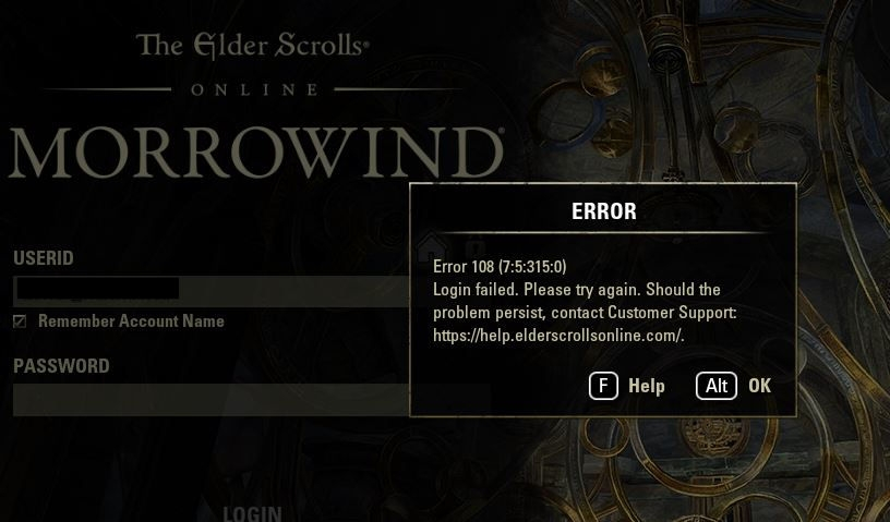 No launcher from Steam  Login failure from  exe  — Elder Scrolls Online