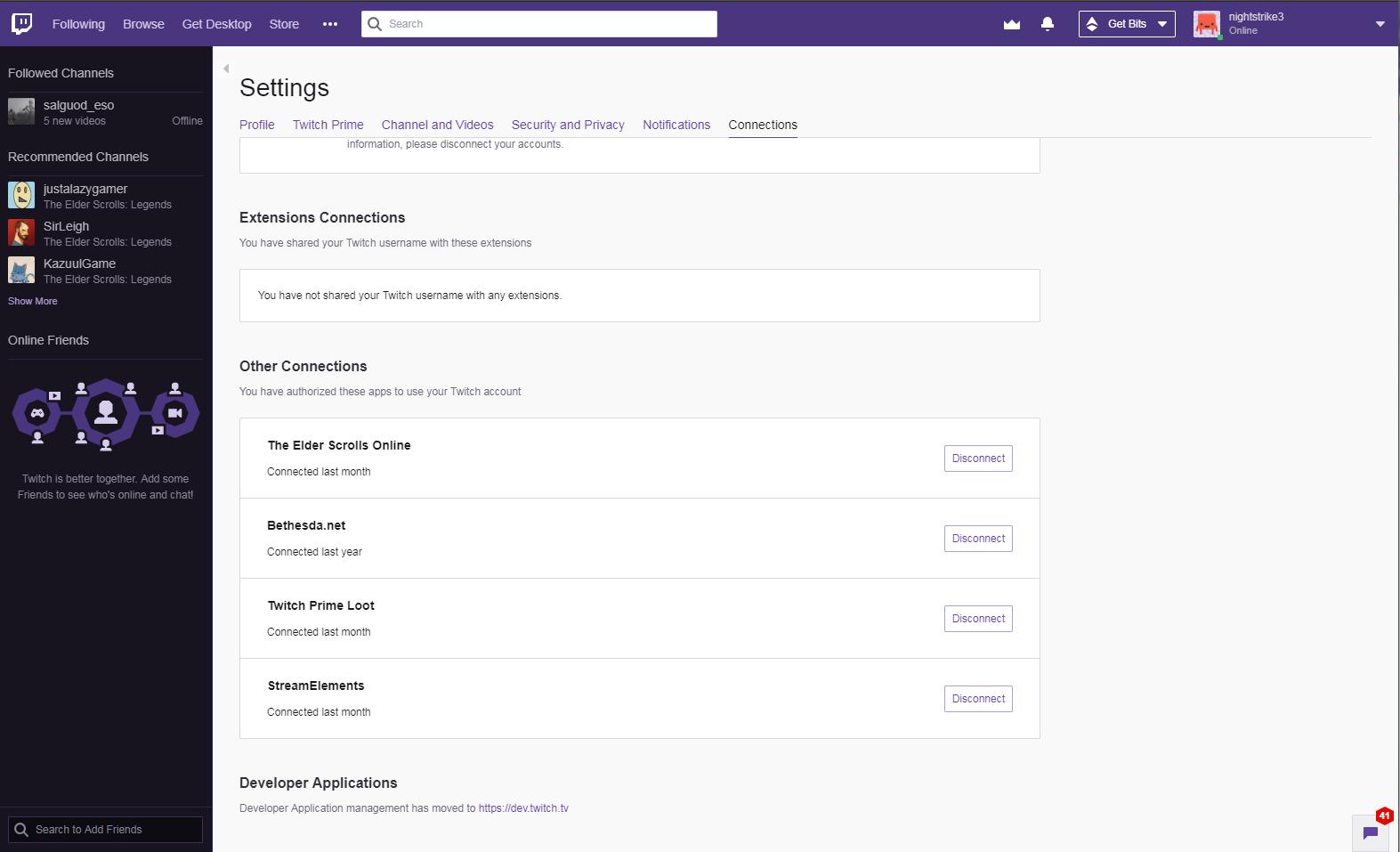 Twitch linking not working — Elder Scrolls Online