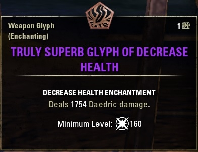 eso weapon damage glyph jewelry daedric damage type newly updated weapon glyph 1948