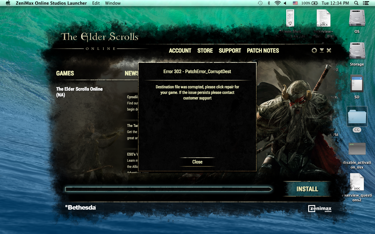Game does not launch (Mac) - Page 2 — Elder Scrolls Online
