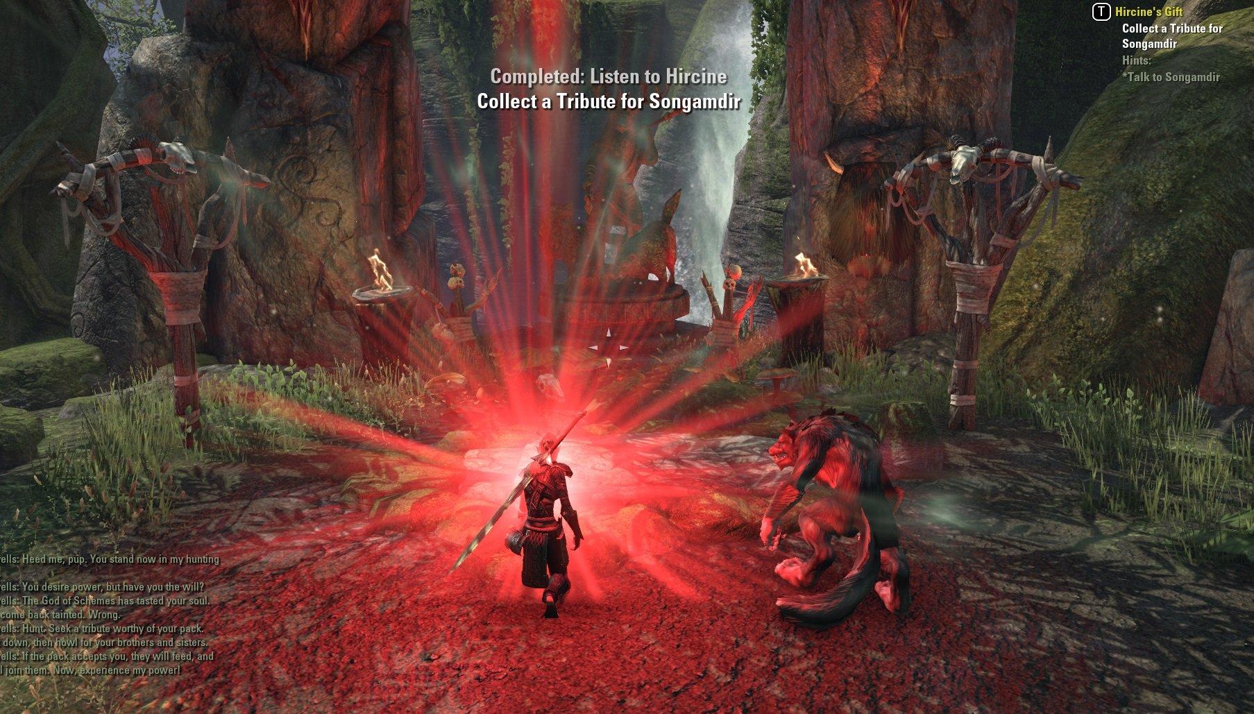 Unable to Finish Quest: Hircine's Gift — Elder Scrolls Online