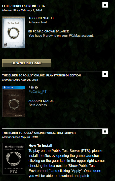 Beta account — elder scrolls online.