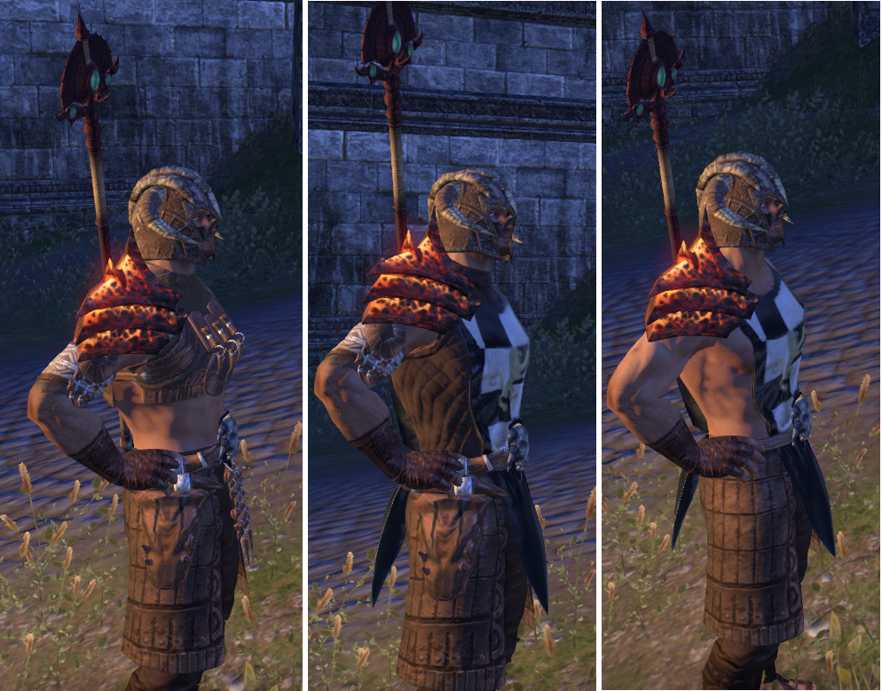 Mazzatun Style With Guild Tabard Doesnt Look Right Elder Scrolls