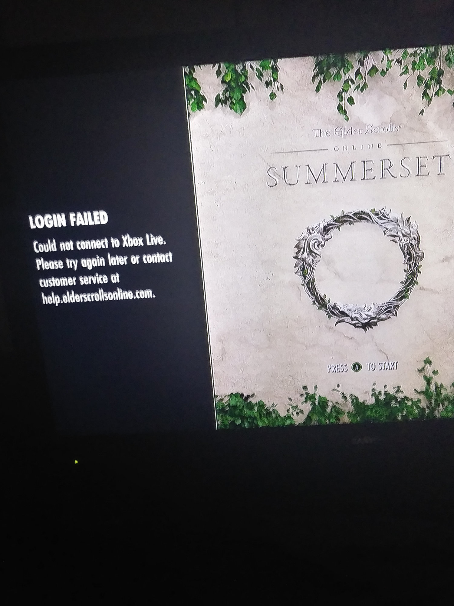 Login failed - Xbox One — Elder Scrolls Online