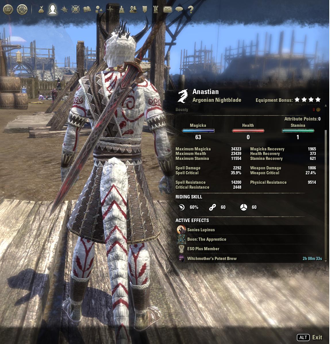 Weapon enchantment mesh always displaying — Elder Scrolls Online