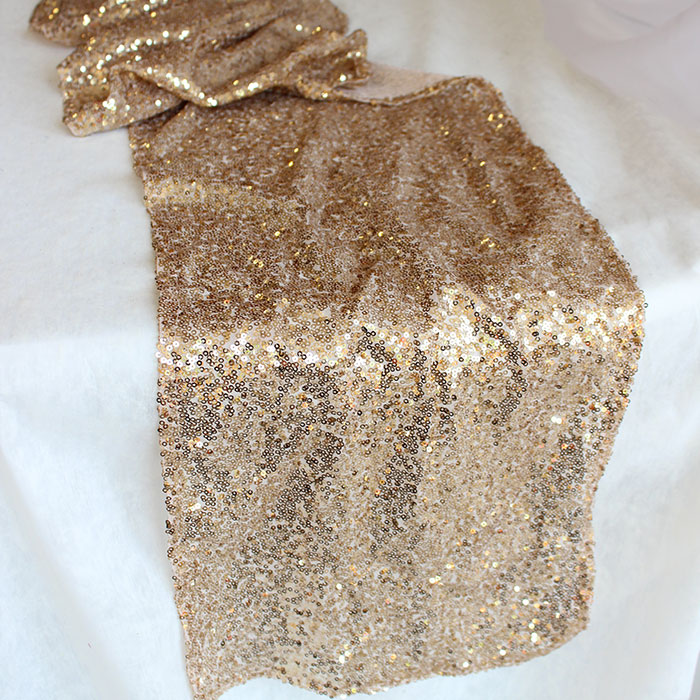 18 Gold Sequin Table Runners For Sale The Knot