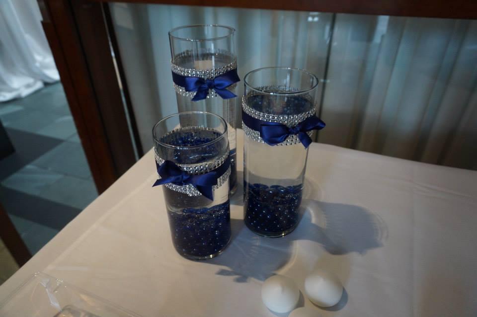 36 Cylinder Vases 725 9 105 River Rocks Navy Bling 100