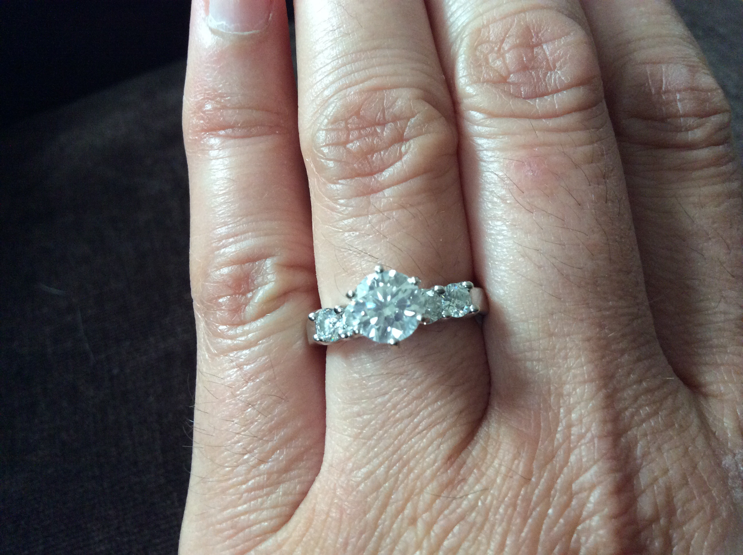 diamond times fishtail brian third img customers prong charm engagement with gavin the platinum ring rings pave