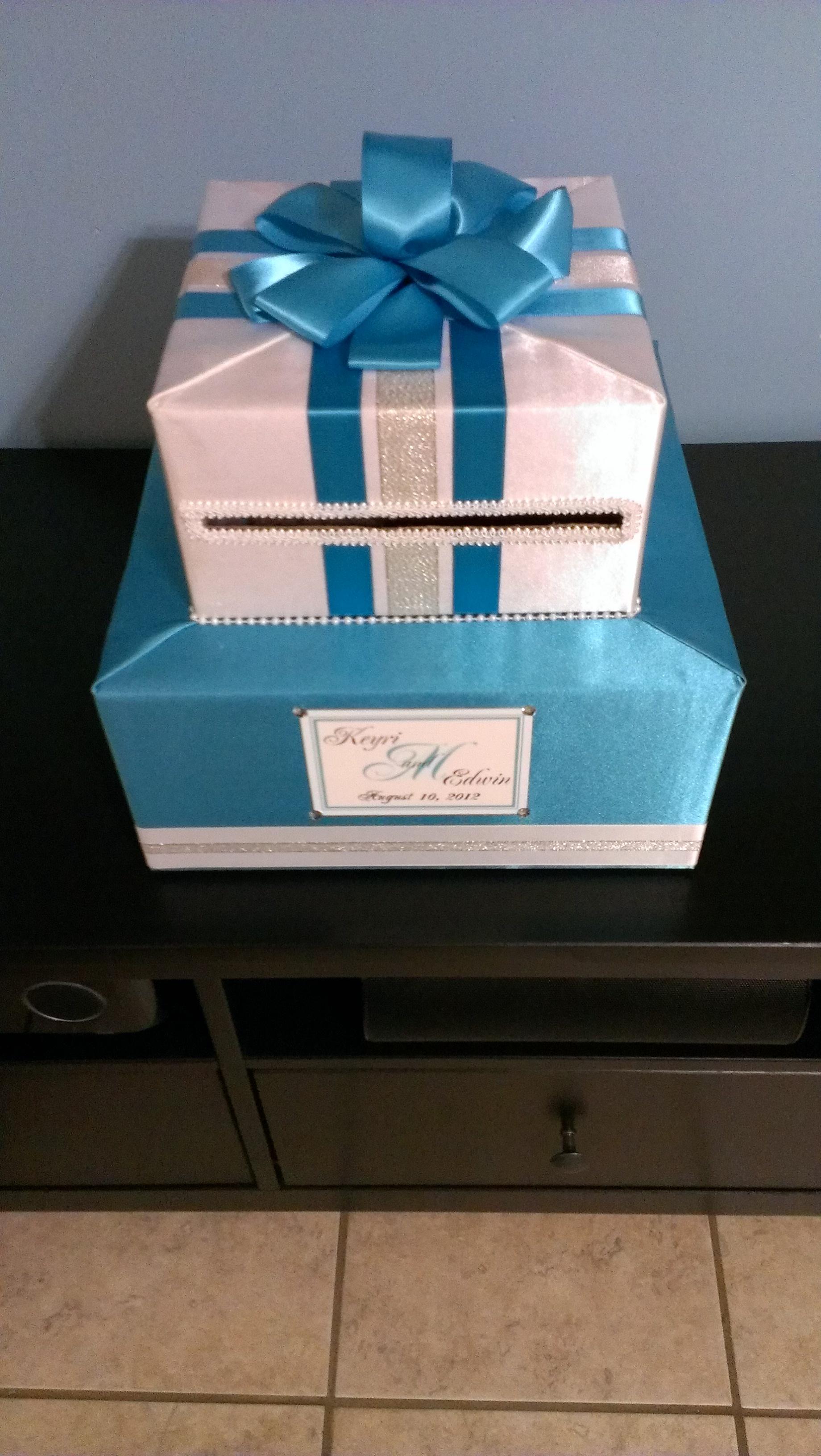 F S CUSTOM ONE OF A KIND WEDDING CAKE STAND & CARD BOX in NJ