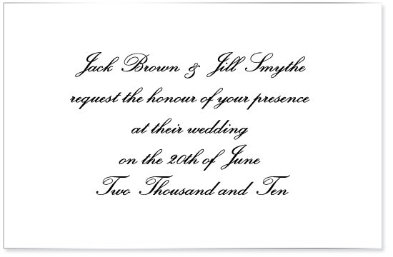 Non Traditional Wedding Invite Wording: Wording On Invitations For A (very) Non Traditional