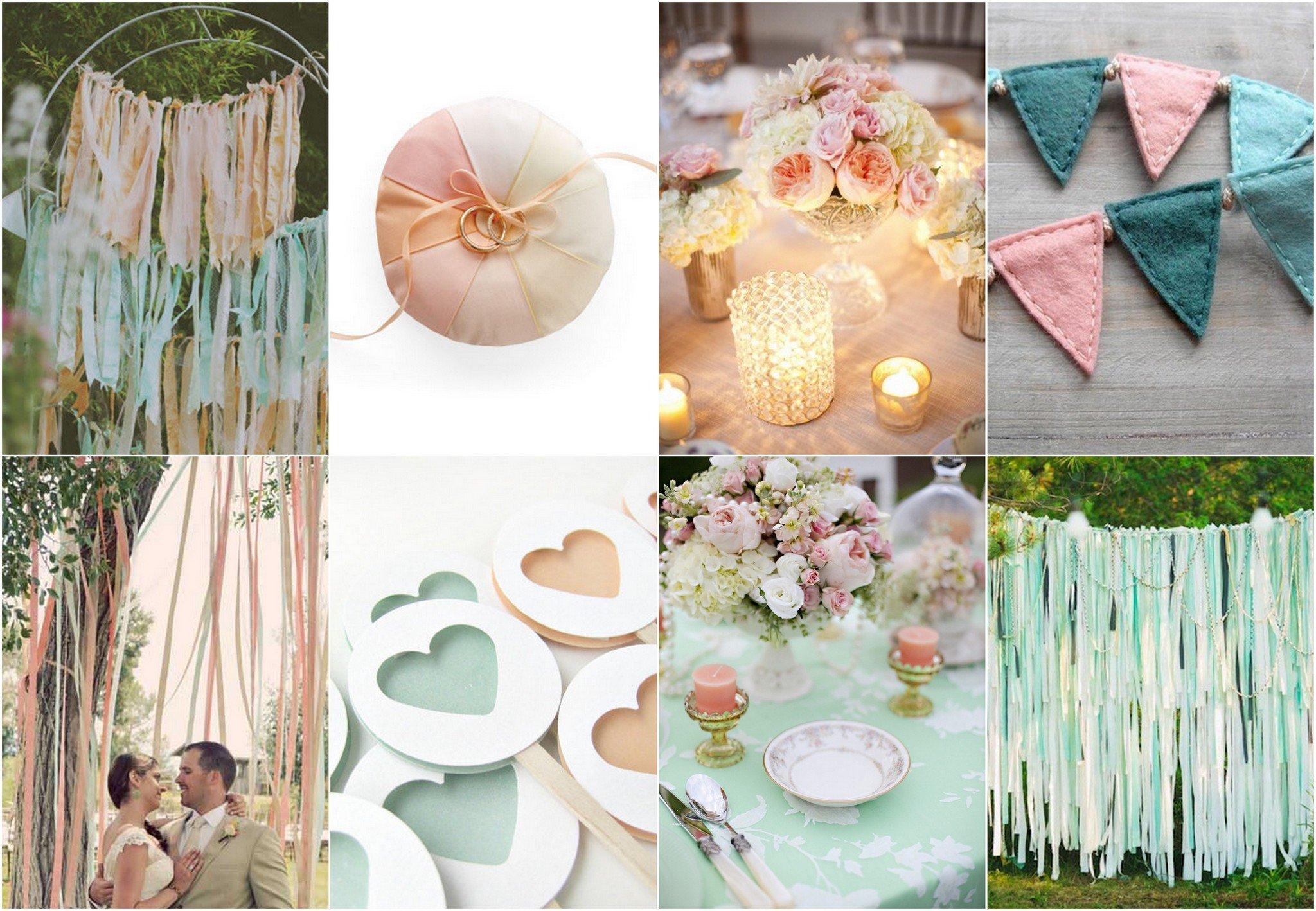 Peach And Mint Green Wedding Theme