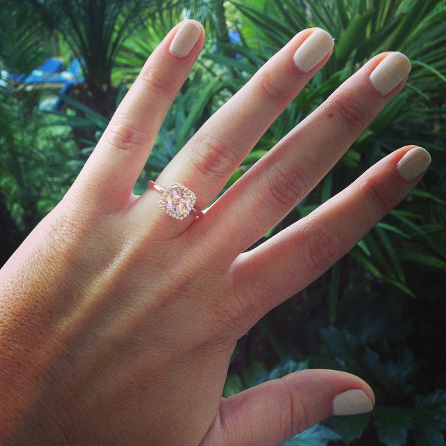 My journey with a Morganite Engagement Ring Advice about choosing