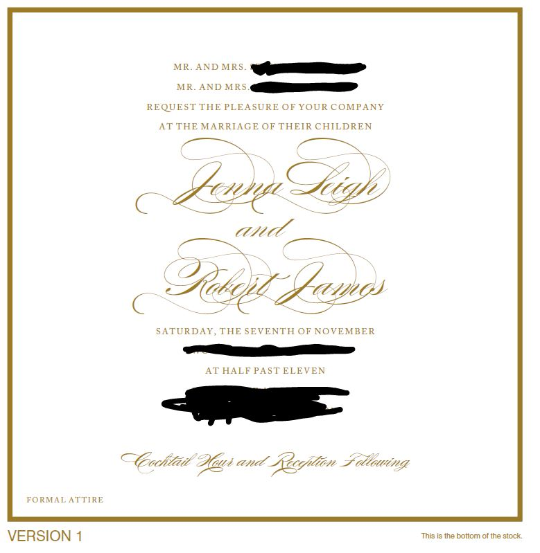 Invitation etiquette question does this look right the knot invite stopboris Choice Image