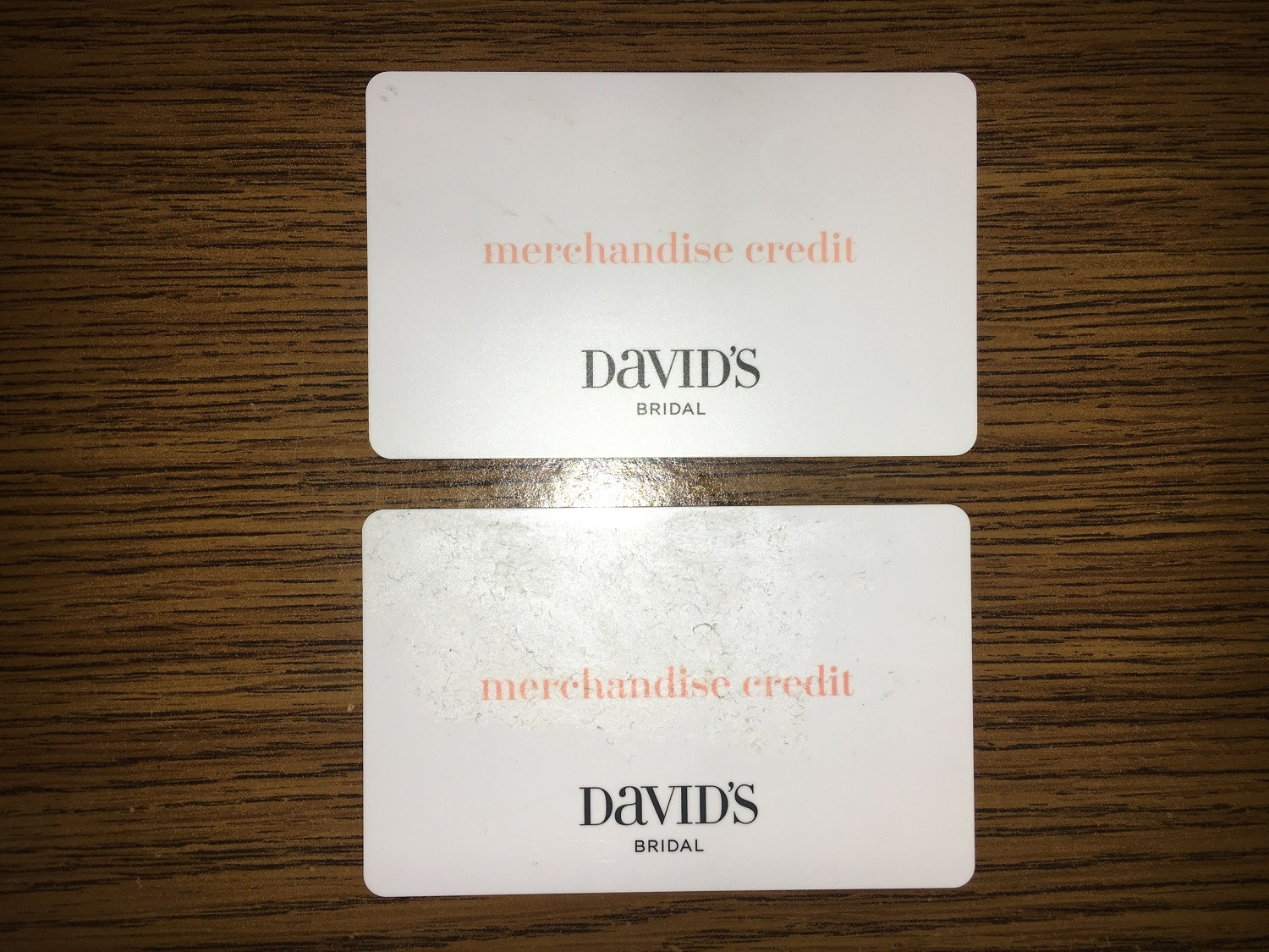 F/S David\'s Bridal Merchandise Credit Gift Cards PIP — The Knot